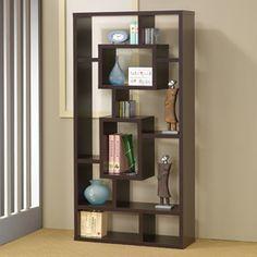 Coaster Fine Furniture Cappuccino 35.5-In W X 70.75-In H X 11.5-In D 1