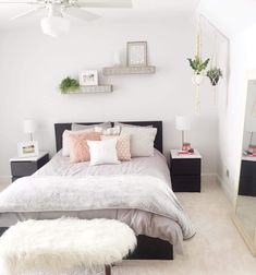This is a Bedroom Interior Design Ideas. House is a private bedroom and is usually hidden from our guests. However, it is important to her, not only for comfort but also style. Much of our bedroom … Gray Bedroom, Home Bedroom, Modern Bedroom, Bedroom Ideas, Master Bedroom, Bedroom Inspo, Bedroom Decor For Teen Girls, Teen Girl Bedrooms, Young Adult Bedroom