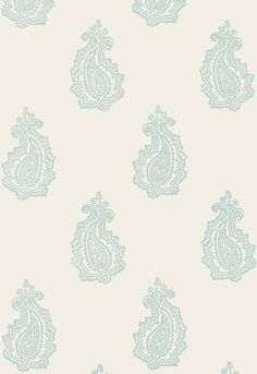 "Schumacher / ""Madras Paisley""; Color: Water Blue"