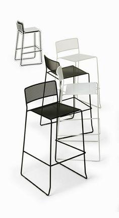 LOG MESH Chaise de bar by AREA DECLIC design Matteo Manenti, Simone Cannolicchio