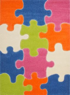 TIJA PUZZLE RUG This high-quality children's rug features a hand-cut jigsaw puzzle pattern in differing shades, but there's nothing puzzling about its loveable design that will cheer up your child's room. #love4home #love4rugs Read More: http://www.love4rugs.eu/kids-rugs/tija-puzzle-rug?utm_source=Pinterest%20Post&utm_medium=Pinterest%20Post&utm_content=Tija%20Puzzle%20Rug&utm_campaign=Tija%20Puzzle%20Rug