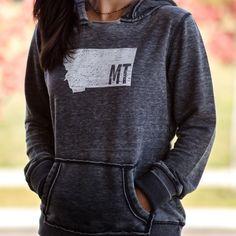 MT. Sweatshirt hoodie- ladies   MONTANA SHIRT CO.