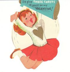 Vintage Valentines with Girls by birdhouse-in-your-soul