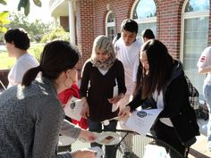 international students learning to make smores.