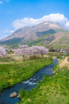 A beautiful spring time view from the small onsen town of Yufuin Japan [OC] -Please check the website for more pics Beautiful Places To Visit, Beautiful World, Beautiful Images, Japan Beach, Japan Country, Fukuoka Japan, Visit Japan, Japan Photo, Japan Travel