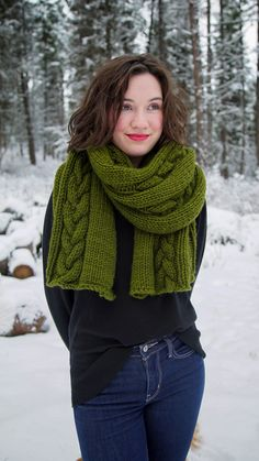 Chunky Cable Wrap Pattern