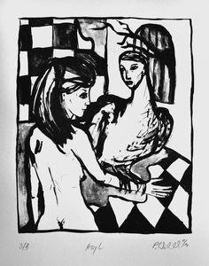 german-fine-arts – Petra Wildenhahn   Asyl   26 x 21 cm   Lithographie   Papiergröße 42 x 20 cm   2010   Auflage 3   signiert