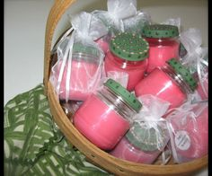 what about making your own candles in baby food jars? Easy gift!
