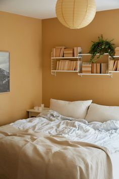 Home Decor Habitacion .Home Decor Habitacion Home Bedroom, Bedroom Wall, Bedroom Decor, Yellow Walls Bedroom, Room Wall Colors, Bedroom Colors, Aesthetic Room Decor, Home Room Design, Room Inspiration