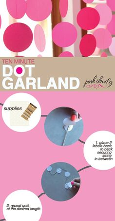 DIY DECOR: Super cute Garland in Under 10 Minutes! Love it!