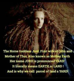 Jord Viking theology , goddess , mother of Thor Norse Goddess, Norse Pagan, Odin Norse Mythology, Wiccan, Witchcraft, Pagan Gods, Earth Goddess, Norse Symbols, Magick