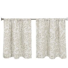 """Elrene Home Fashions Serene Kitchen Tier Set Color: Linen, Size: 30"""" H x 36"""" W"""