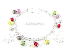 Bracelet perles perles multicolore et irisées : Bracelet par lesfimodelicesdenathy
