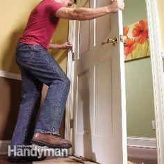 How to Remove a Door - Get #DIY instructions: http://www.familyhandyman.com/doors/how-to-remove-a-door
