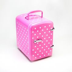 Mini geladeira frigobar - rosa poá - GELADEIRA ROSA