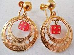 Vintage 1960s Screw Back Earrings Gold by KKCollectibleCollage, $8.00 https://www.etsy.com/listing/166345545/vintage-1960s-screw-back-earrings-gold