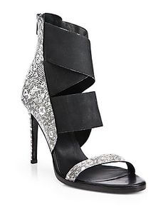 e42eec1b300 Helmut Lang - Mimeo Lizard-Print Leather High-Heel Sandals