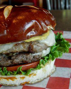 One of our fall 2015 Chef Specialty Burgers- Oktoberfest Monkburger  http://www.monksbarandgrill.com/Fall-2015-Fun