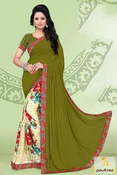Green and Blue Patli Kanjeevaram Silk Saree Product Code ...