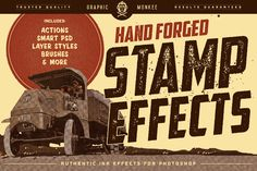 Hand Forged Stamp Effects by GraphicMonkee on @creativemarket