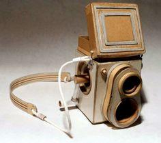 Vintage camera constructed from cardboard by Kiel Johnson ..