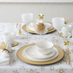 Mantel y servilletas algodón estrellas geométricas - Mesa - Navidad | Zara Home España