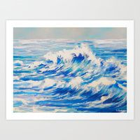 Art Print featuring Ocean Waves by Scherer Art