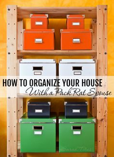 how to organize your house with a pack-rat spouse...(except I'M the pack-rat!)