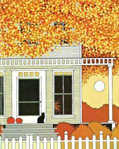 My Puzzles - Autumn Vintage & Modern - House in Autumn 1984
