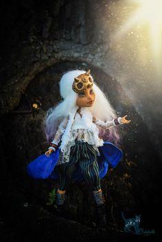 Custom Monster High Doll OOAK Howleen Wolf Repaint by Chelokotik - full set