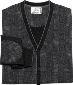 1905 Collection Wool Blend Plaid Cardigan Sweater