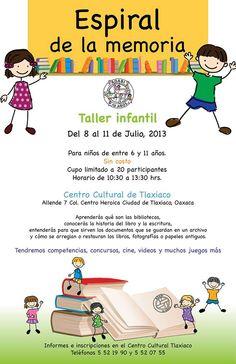 ADABI invita al Taller infantil Espiral de la memoria.