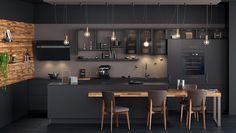 Kitchen Room Design, Modern Kitchen Design, Home Decor Kitchen, Interior Design Living Room, Design Moderne, Minimalist Design, Kitchen Remodel, House Design, Design Design