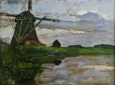Oostzijdse mill in the evening, 1907 Piet Mondriaan