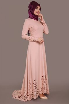 Lazer Kesim Kuyruklu Elbise Pudra Ürün kodu: ASM2010 --> 119.90 TL Only Girl, The Dress, Hijab Fashion, Clothes, Collection, Dresses, Clothing, Kaftan, Outfits
