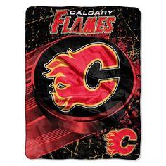 "Calgary Flames Throw Blanket NHL Soft Raschel Plush Team Logo 46"" x 60"" #Northwest #CalgaryFlames"