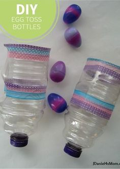 Easter Game: Egg Toss Bottles — This is a perfect activity for kids and adults alike at your upcoming holiday party. Even better, it's a quick and easy DIY craft so you can make it yourself!