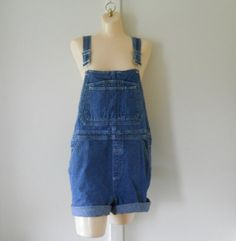 FOR CIARA Women Overalls Womens Shortalls Denim by TheVilleVintage, $44.99