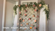 DIY/Fence Backdrop - The Effective Pictures We Offer You About diy face mask A quality picture can tell you many things - Desi Wedding Decor, Diy Wedding Backdrop, Wedding Stage Decorations, Floral Backdrop, Diy Backdrop, Backdrop Decorations, Backdrops, Backdrop Stand, Flower Decorations