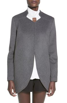 Finders Keepers the Label 'Long Time' Open Front Wool Blend Coat available at #Nordstrom