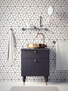 Have a peek at this web-site discussing Dyi Bathroom Decor Bathroom Wallpaper Modern, Kitchen Wallpaper, Modern Bathroom, Black And White Tiles Bathroom, Black And White Wallpaper, Small Toilet Room, Bathroom Inspiration, Bathroom Ideas, Restroom Ideas