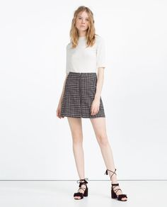 Image 1 of CHECK SKIRT from Zara