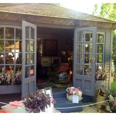 Summer house/Workshop has officially been budgeted for in the grand house buying plan! Summer House Garden, Home And Garden, Summer Houses, Garden Cottage, Outdoor Rooms, Outdoor Living, Sunroom Kits, Summer House Interiors, Craft Shed