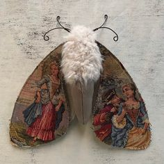 Your place to buy and sell all things handmade Vintage French Tapestry Moth, Softsculpure Butterfly, Fiber Moth Art Doll, Fairytale Creature Textile Sculpture, Textile Fiber Art, Soft Sculpture, Textiles, Fabric Art, Fabric Crafts, Softies, Fairytale Creatures, Insect Art
