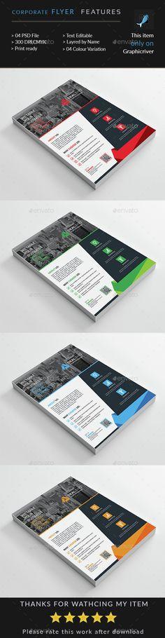 Corporate Business Flyer by Death_pixels Print Templates, Psd Templates, Flyer Template, Corporate Flyer, Corporate Business, Banners, Print Design, Graphic Design, Creative Flyers