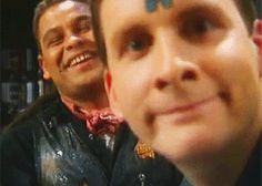 Blooper Red-Dwarf -Rimmer-And-Lister www. Retro Rocket, Red Dwarf, Best Sci Fi, British Comedy, Comedy Show, Best Shows Ever, Favorite Tv Shows, I Movie, I Laughed