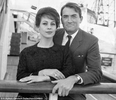 """Gregory Peck and his wife Veronique met in 1953 and got married on New Years Eve 1955"""" - previous pinner. (She was his second wife, btw)"""