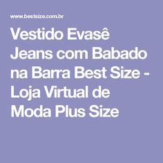 Vestido Evasê Jeans com Babado na Barra Best Size - Loja Virtual de Moda Plus Size