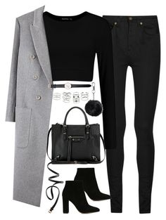 """""""Untitled#4519"""" by fashionnfacts ❤ liked on Polyvore featuring Yves Saint Laurent, Gianvito Rossi, Balenciaga, H&M, Topshop, Miss Selfridge and Daniel Wellington"""