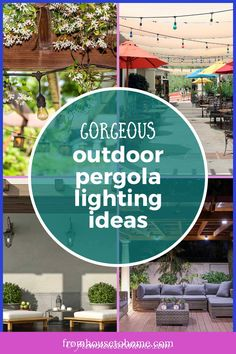 Want to spend more time on your deck or patio? These pergola lighting ideas will light up the night and make your outdoor space look beautiful. #fromhousetohome #gardendesign #pergola #landscapelighting #backyardlandscaping
